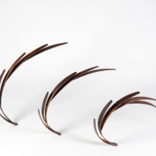 In and Out: a Progression in Three Parts | black walnut wood | 27.5 x 80 x 2 inches