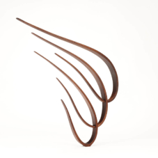 Three Curving Back Over Each Other | sapele wood | 27 x 21.5 x 2 inches