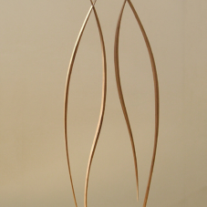 Two Standing Pairs | mahogany wood | 40 x 15 x 0.75 inches