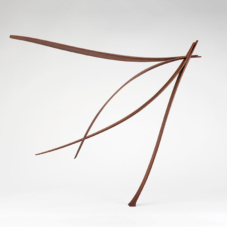 Two Pairs Intersecting at an Angle | sapele wood | 30.5 x 35.5 x 8 inches