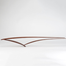 Three Pieces with Two Approaching, But Not Meeting | sapele wood | 6 x 44.5 x 2 inches