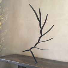 Reaching Up, Out, and Back | wenge wood | 35 x 44 x 17.5 inches
