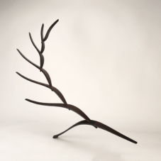 Reaching Up, Out, and Back | wenge wood | 41 x 56.5 x 24 inches