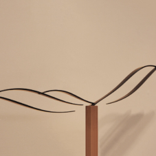 Reaching Out and Below | hardwood, carbon fiber composite | 12.5 x 54 x 2 inches