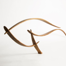 Reaching Left and Right | sapele wood | 14 x 48 x 2 inches