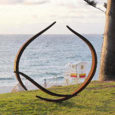 Enclosing Form, Reaching Together | Corten steel | commission for Sculpture by the Sea exhibition, Perth, Australia
