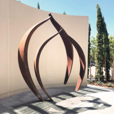 Nested | Corten steel | 120 x 90 x 30 inches