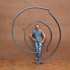 Circling In | carbon fiber composite, steel | 102 x 84 x 6 inches