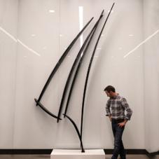 Extending Up, Version 3 | carbon fiber composite, steel | 121 x 89 x 5 inches