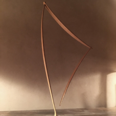 Concave/Convex, a Triangular Form | cherry wood | 27.5 x 13.5 x 1.5 inches