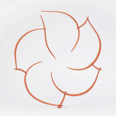 Circular Study in Ten Pieces | wood, carbon fiber composite, powdered copper | 35.5 x 32.5 x 2 inches
